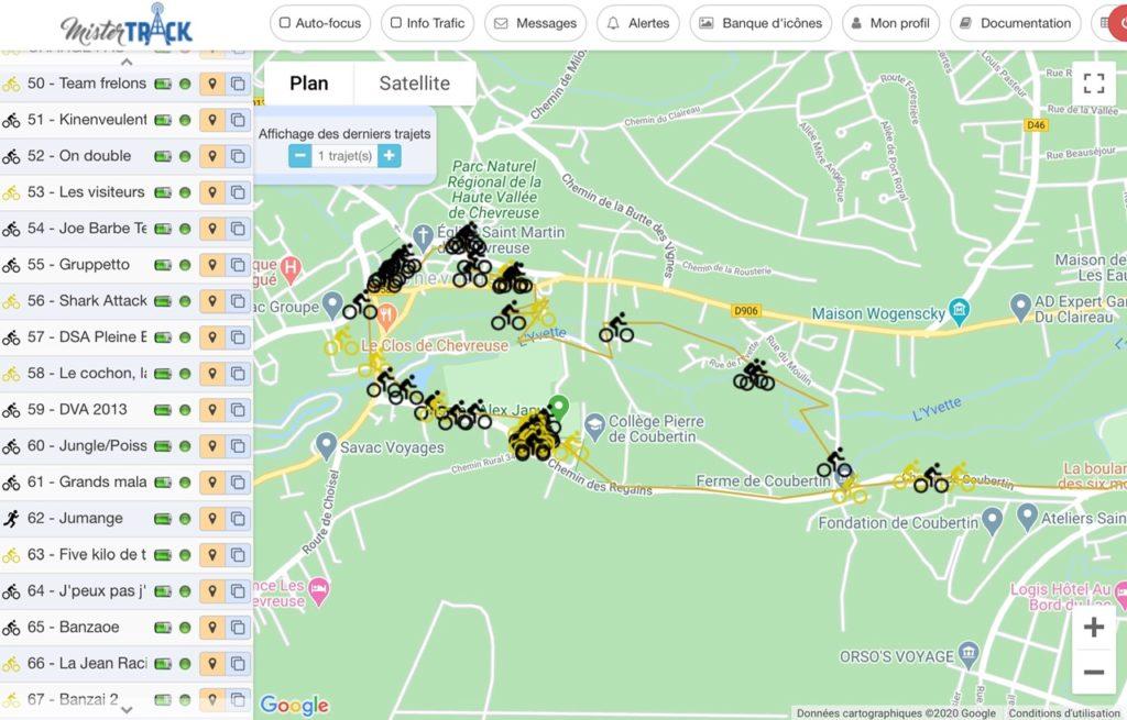 Traceur GPS pour course cycliste