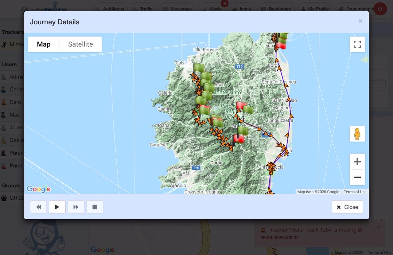 Trekking GR20 Corsega