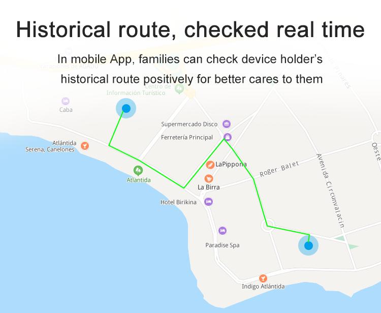 Rapports trajets bracelet GPS