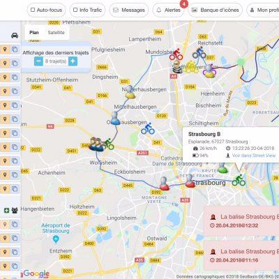 Balise GPS course Raid Trail